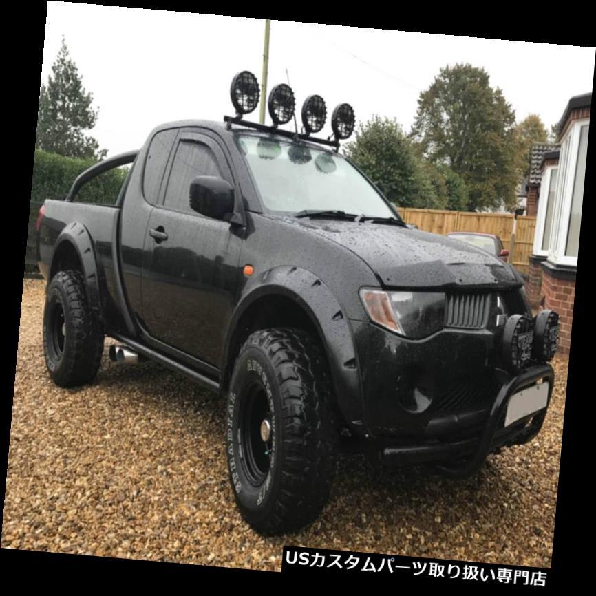 オーバーフェンダー MITSUBISHI L200 Warrior、Triton 2-door用ワイドフェンダーフレアホイールアーチ Wide fender flares wheel arches for MITSUBISHI L200 Warrior, Triton 2-door