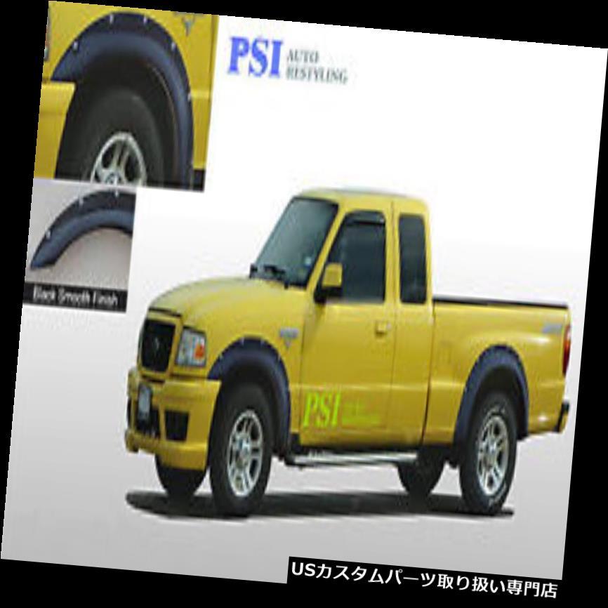 オーバーフェンダー 黒塗装ポケットリベットボルトフェンダーフレア1993-2011フォードレンジャーフルセット Black Paintable Pocket Rivet Bolt Fender Flares 1993-2011 Ford Ranger Full Set
