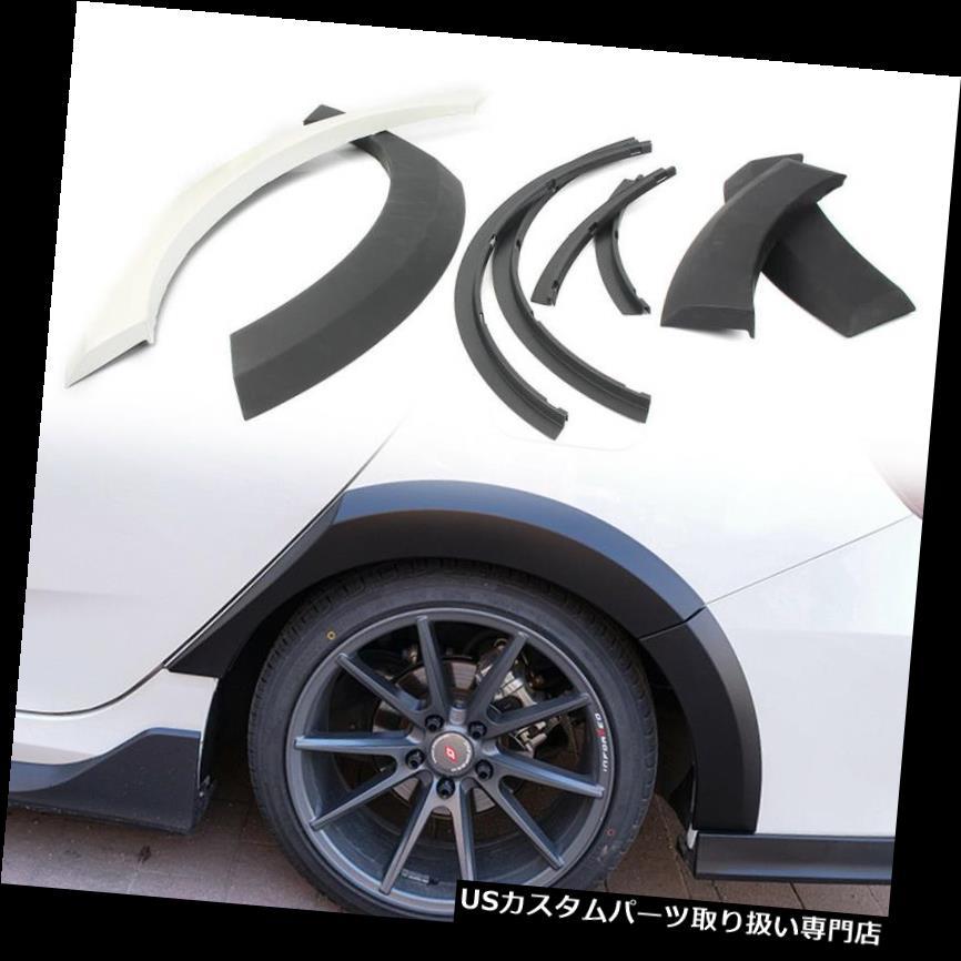 オーバーフェンダー 2016-2017年ホンダシビック4Drセダンtb用リアフェンダーフレアホイールブローカバーセット Rear Fender Flares Wheel Brow Cover Set for 2016-2017 Honda Civic 4Dr Sedan tb