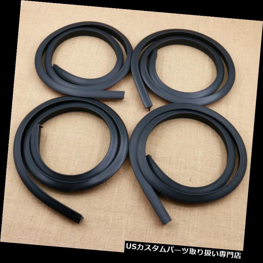 4本1.5メートルブラックカーSUVホイールフェンダーエクステンションモールディングフレアトリムストリップエッジ Edge SUV Strip Car 1.5m Extension Wheel Trim Black Moulding Flares オーバーフェンダー Fender 4pcs