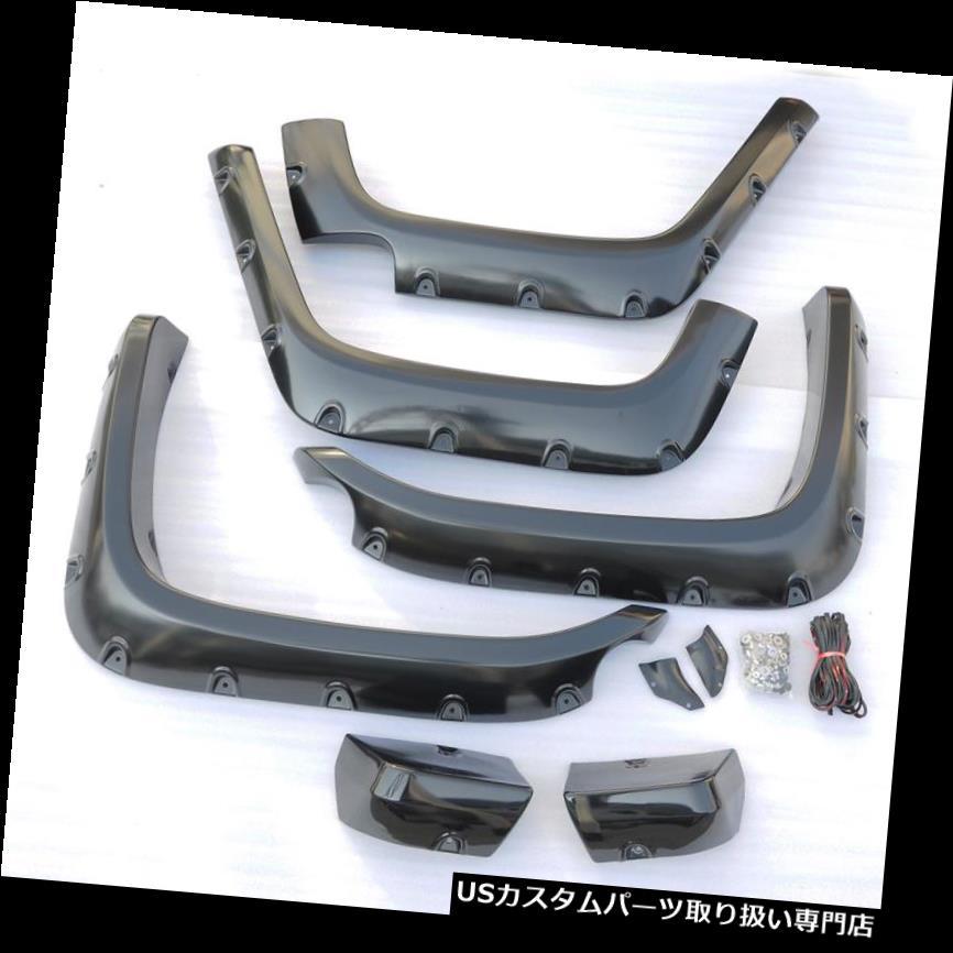 オーバーフェンダー 07-15トヨタランドクルーザーFJ用GLFフロントリアフェンダーフレアポケットリベットスタイル GLF Front Rear Fender Flares Pocket Rivet Style For 07-15 Toyota Land Cruiser FJ