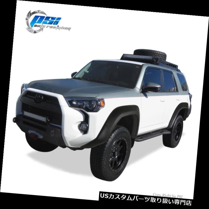 オーバーフェンダー ブラックテクスチャエクステンションスタイルフェンダーフレア14-17トヨタ4ランナーフルセット Black Textured Extension Style Fender Flares 14-17 Toyota 4Runner Full Set
