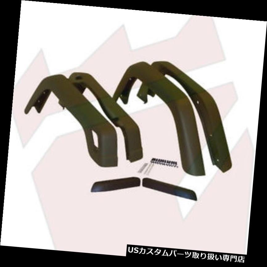 オーバーフェンダー 1997 - 2006年のジープラングラーTJ在庫またはOE幅フェンダーフレア - 黒 Jeep Wrangler TJ Stock or OE Width Fender Flares for 1997-2006 years - Black