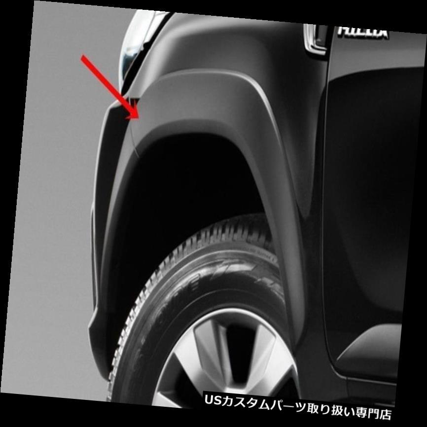 オーバーフェンダー GENUINE TOYOTA HILUX REVO 2016 SMART CABブラックフェンダーフレアホイールアーチ GENUINE TOYOTA HILUX REVO 2016 SMART CAB BLACK FENDER FLARES WHEEL ARCH