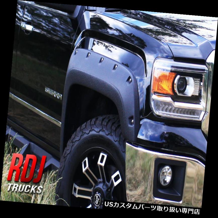 オーバーフェンダー RDJトラックプロオフロードGMC SIERRA 1500 2014-2015ボルトオンスタイルフェンダーフレア RDJ TRUCKS PRO-OFFROAD GMC SIERRA 1500 2014-2015 BOLT-ON STYLE FENDER FLARES