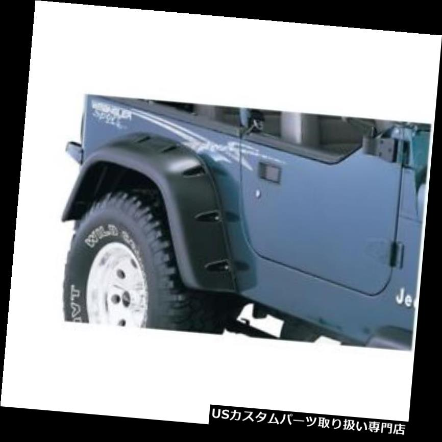 オーバーフェンダー Bushwacker 10058 - 07 1987 - 1995年の後部フェンダーフレアカットアウトジープラングラー(YJ) Bushwacker 10058-07 Rear Fender Flares Cut-Out For 1987-1995 Jeep Wrangler (YJ)