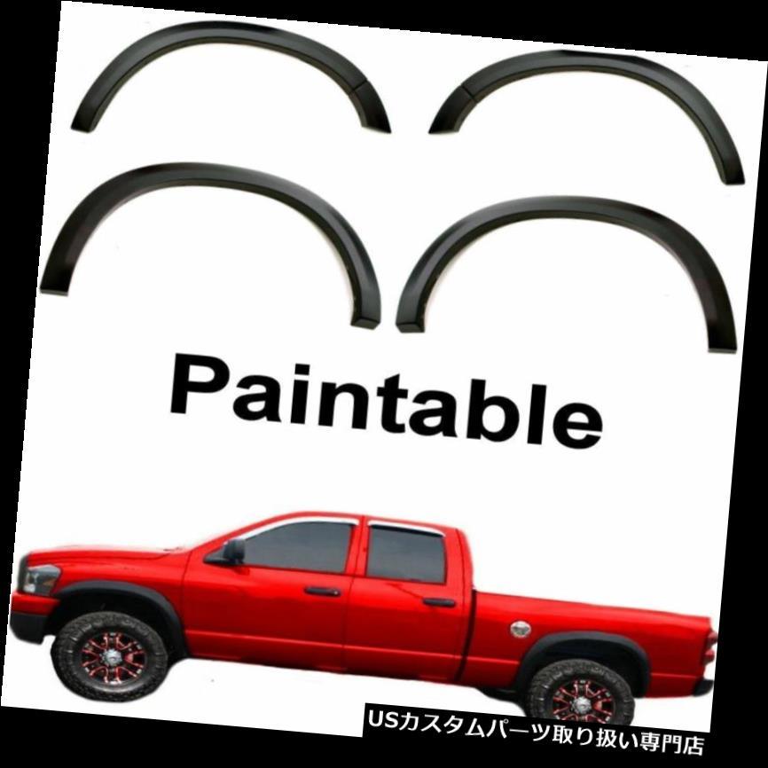 オーバーフェンダー 2002 Dodge Ram 1500 2500 3500フェンダーフレアでスムーズな工場出荷時のボルト リア 2002 Dodge Ram 1500 2500 3500 Fender Flares Smooth Factory Bolt on Front & Rear