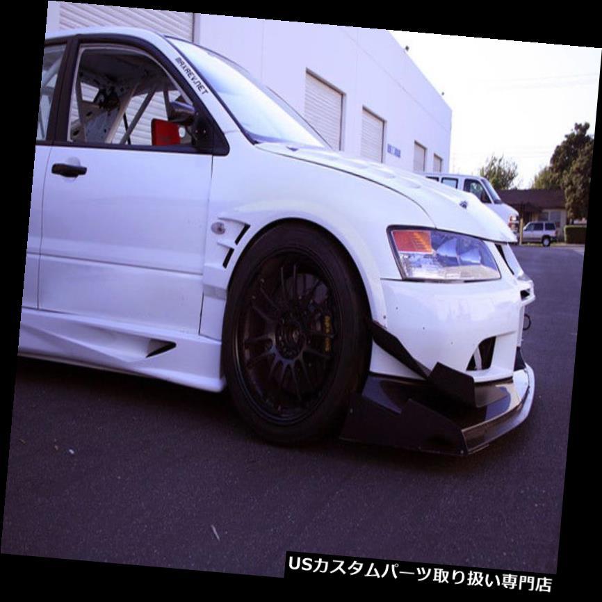 オーバーフェンダー 未塗装三菱エボリューション8 9 FRP繊維用フェンダーアーチフレア Front Over Fender Arch Flares For Mitsubishi Evolution 8 9 FRP Fiber Unpainted