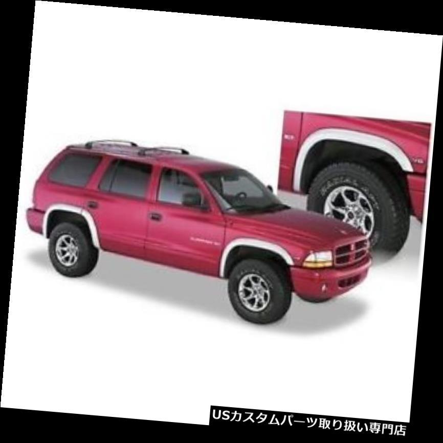 オーバーフェンダー Bushwacker 51904-02 Extend-A-Fende  rフレア、1998年 - 2003年のダッジデュランゴ用4本セット Bushwacker 51904-02 Extend-A-Fender Flares, Set of 4 For 1998-2003 Dodge Durango