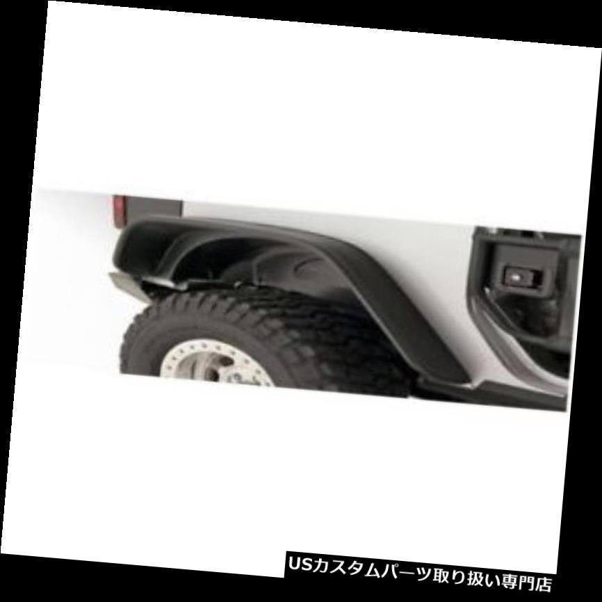 USオーバーフェンダー ブッシュワッカー10052 - 07リアフェンダーフレアフラットスタイル2007 - 17年ジープラングラー(JK) Bushwacker 10052-07 Rear Fender Flares Flat Style For 2007-17 Jeep Wrangler (JK)
