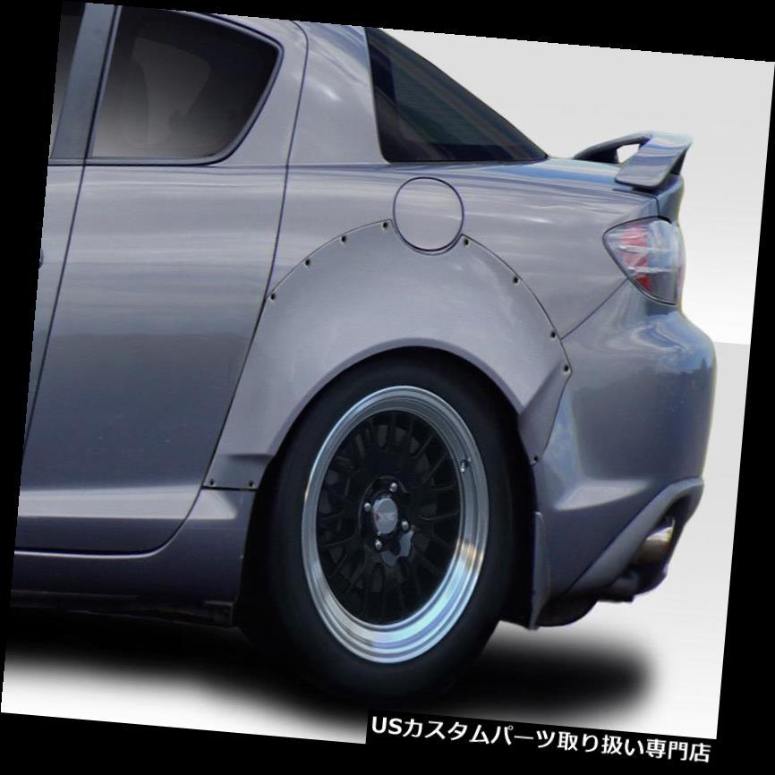 オーバーフェンダー 04-11マツダRX8 RBSデュラフレックスリアフェンダーフレア! 114362 04-11 Mazda RX8 RBS Duraflex Rear Fender Flares!!! 114362