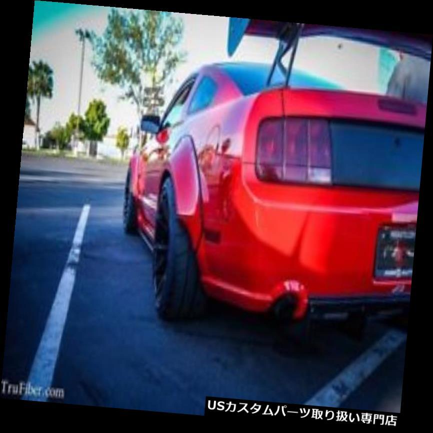 オーバーフェンダー 05-09フォードマスタングTruFiberリアフェンダーフレア! TF10024-LG274-  S 05-09 Ford Mustang TruFiber Rear Fender Flares!!! TF10024-LG274-S