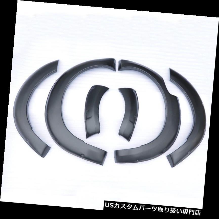 オーバーフェンダー YTR 6xマットブラックフェンダーフレア用日産NP300 D23 Navara 4ドア2015 2016 ON YTR 6x Matte Black Fender Flares For Nissan NP300 D23 Navara 4 Door 2015 2016 ON