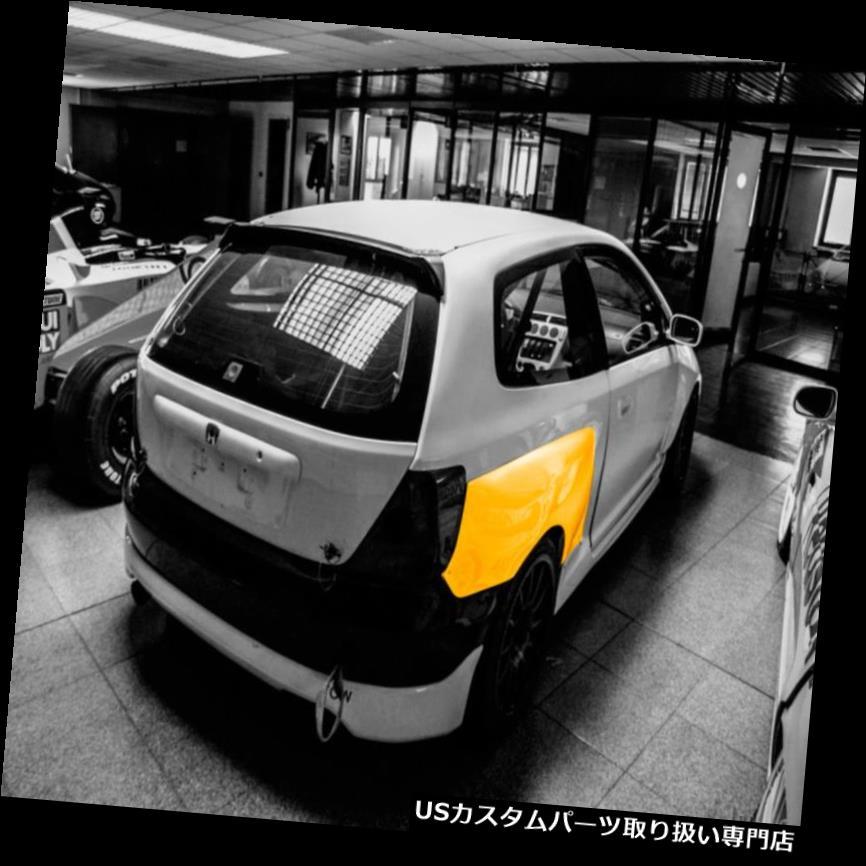 オーバーフェンダー ホンダシビックタイプR EP3 S1用リアフレアフェンダーライオンズキット+ 50mm、S2 01-05 Rear flares fenders LION'S KIT +50mm for Honda Civic Type R EP3 S1, S2 01-05