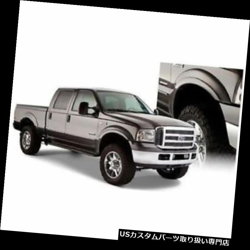 オーバーフェンダー Bushwacker 20928-02 Extend-A-Fende  rフレア、1997?2007年スーパーデューティー用4本セット Bushwacker 20928-02 Extend-A-Fender Flares, Set of 4 For 1997-2007 Super Duty
