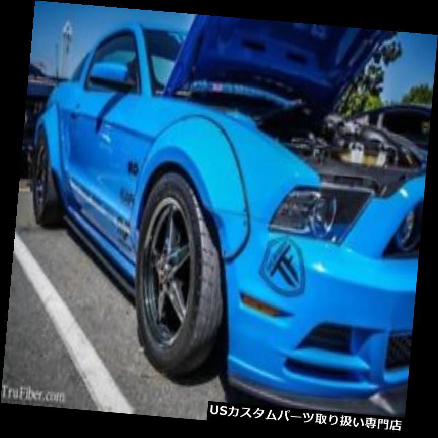 オーバーフェンダー 10-14フォードマスタングTruFiber LGワイドフロントフェンダーフレア! TF10025-LG276-  T 10-14 Ford Mustang TruFiber LG Wide Front Fender Flares!!! TF10025-LG276-T