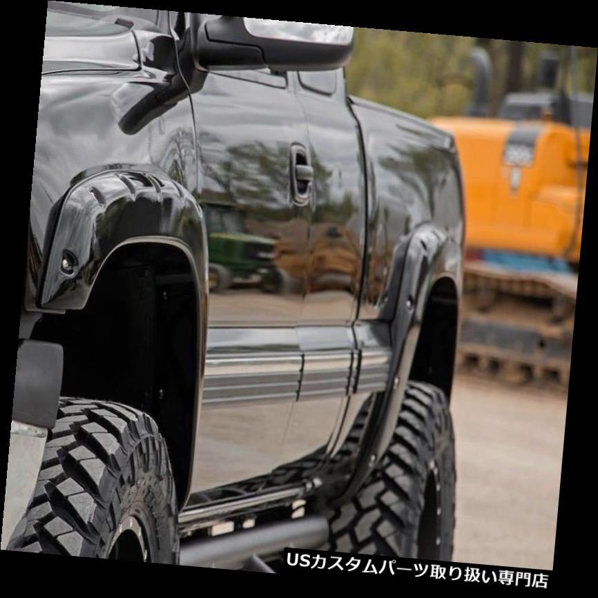 オーバーフェンダー 2003-2006シボレーシルバラード塗装済み完成品OEMカラーマッチフェンダーフレアポケットリベット 2003-2006 Chevy Silverado Painted OEM Color Matched Fender Flares Pocket Rivet