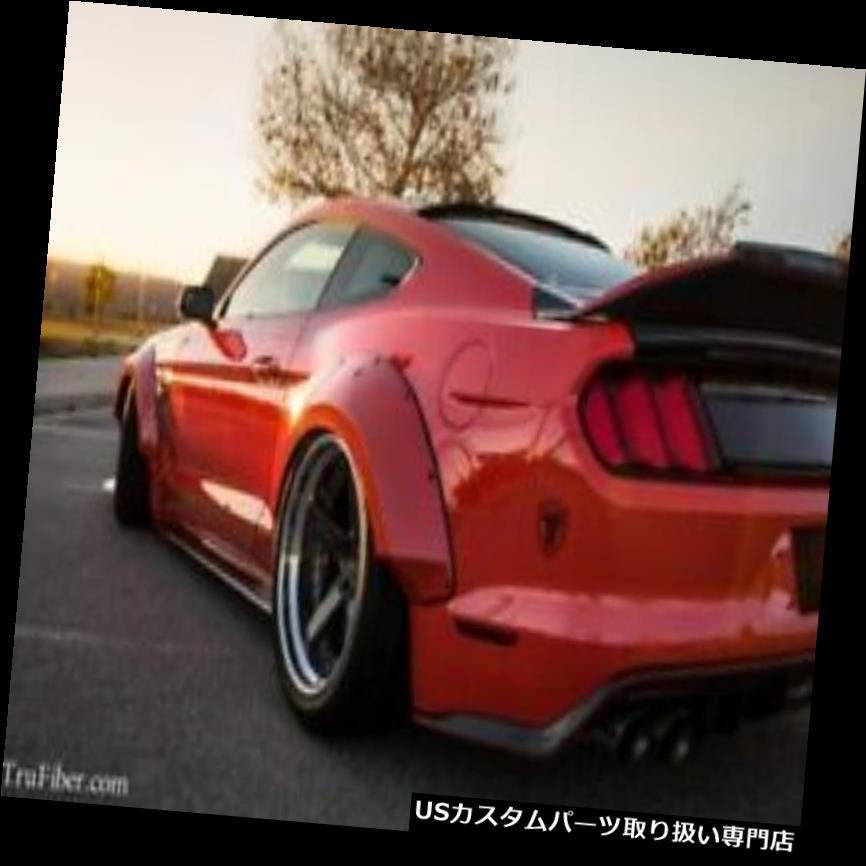 オーバーフェンダー 15-17フォードマスタングTruFiberワイドリアフェンダーフレア! TF10026-LG267-  S 15-17 Ford Mustang TruFiber Wide Rear Fender Flares!!! TF10026-LG267-S
