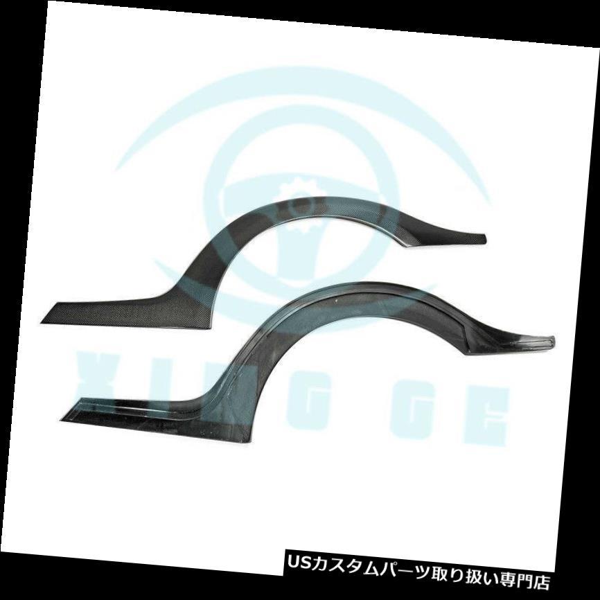 オーバーフェンダー 日産R35 GTR UQのための2本のカーボンファイバーTSスタイル後輪アーチフェンダーフレア 2pcs Carbon Fiber TS Style Rear Wheel Arch Fender Flares For Nissan R35 GTR UQ