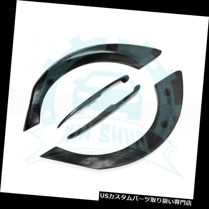 オーバーフェンダー ホンダシビックFD2のための4x後部広いフェンダーフレアアドオンの外側の炭素繊維 Carbon Fiber Outside 4x Rear Wide Fender Flares Addon For Honda Civic FD2