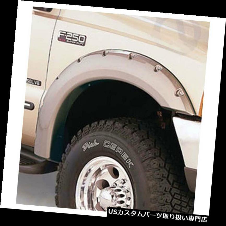 オーバーフェンダー 1999 - 07年フォードSuperdutyのための優れたFX 4pcリベット/ボルトスタイル6 x 3inのフェンダーフレア Premium FX 4pc Rivet/Bolt Style 6 x 3in Fender Flares for 1999-07 Ford Superduty