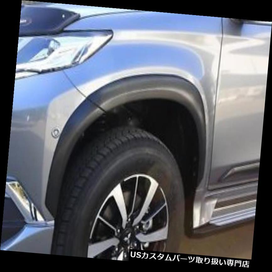 オーバーフェンダー 三菱パジェロスポーツ2016ブラックマットフェンダーフレアV1 8のセット MITSUBISHI PAJERO SPORT 2016 BLACK MATT FENDER-FLARES V1 SET OF 8