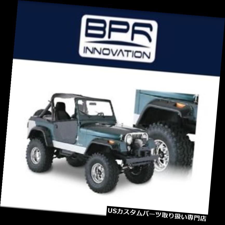 オーバーフェンダー 56-83ジープCJ5 / CJ6カットアウトフェンダー用ブッシュワッカー Bushwacker For 56-83 Jeep CJ5 / CJ6 Cut-Out Fender Flares Front And Rear Pair
