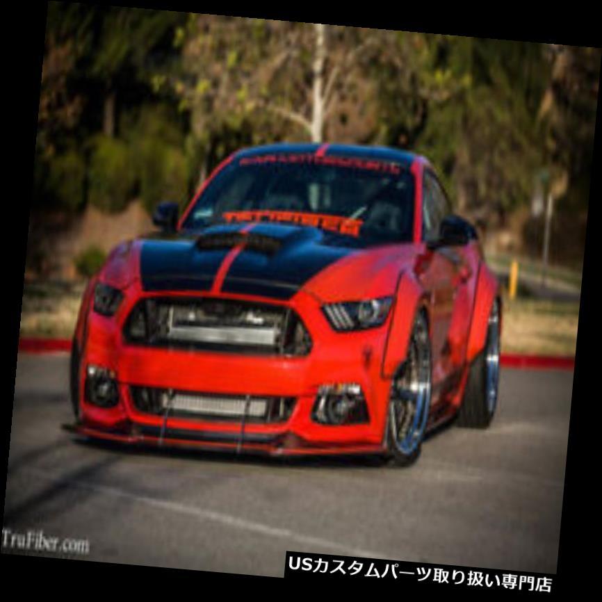 オーバーフェンダー 15-17フォードマスタングTruFiberワイドフロントフェンダーフレア! TF10026-LG267-  T 15-17 Ford Mustang TruFiber Wide Front Fender Flares!!! TF10026-LG267-T