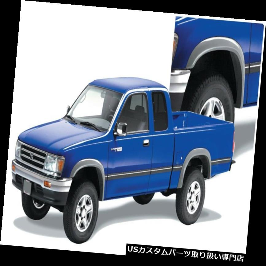 オーバーフェンダー Bushwacker 31910-11 Extend-A-Fende  rフレアは93-98 T100ピックアップにフィット Bushwacker 31910-11 Extend-A-Fender Flares Fits 93-98 T100 Pickup