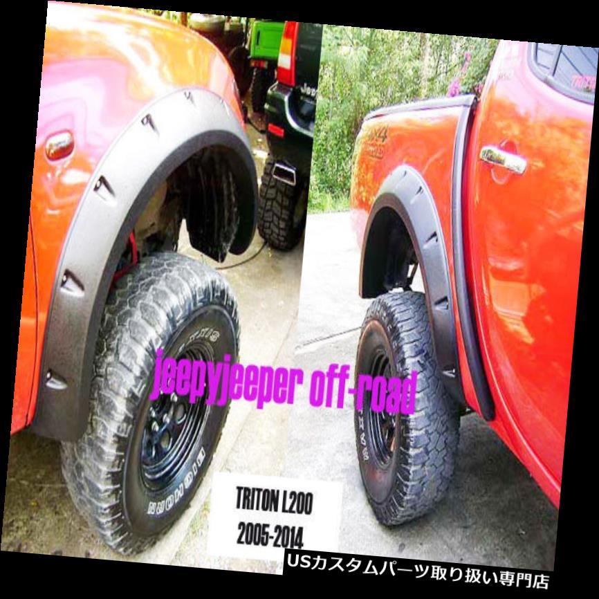 オーバーフェンダー ジャングルオフロード4x4三菱L200 Triton MN ML FENDERフレアフレアホイールアーチ Jungle Off-Road 4x4 Mitsubishi L200 Triton MN ML FENDER FLARES FLARE WHEEL ARCH