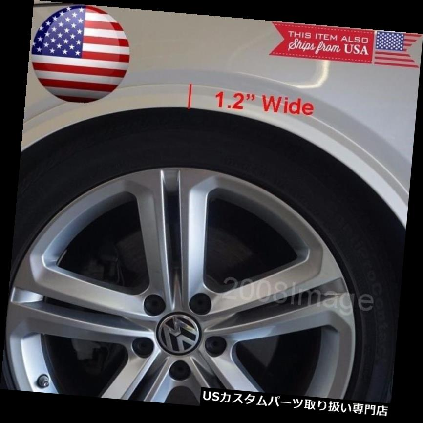 "1 Pair 13/"" White Carbon Wrap  Wide Body Fender Flares Lip For Wheel Wall Panel"