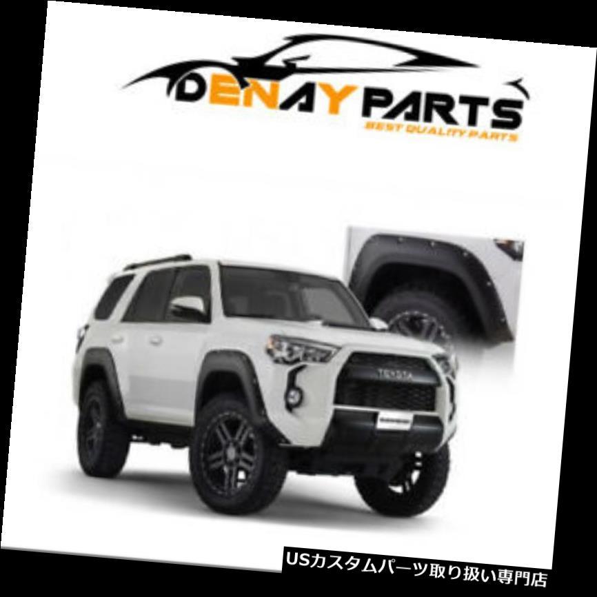 オーバーフェンダー 14-18トヨタ4ランナーポケットスタイルのフロントとリアのフェンダーフレア用 For 14-18 Toyota 4Runner Pocket Style Front and Rear Fender Flares