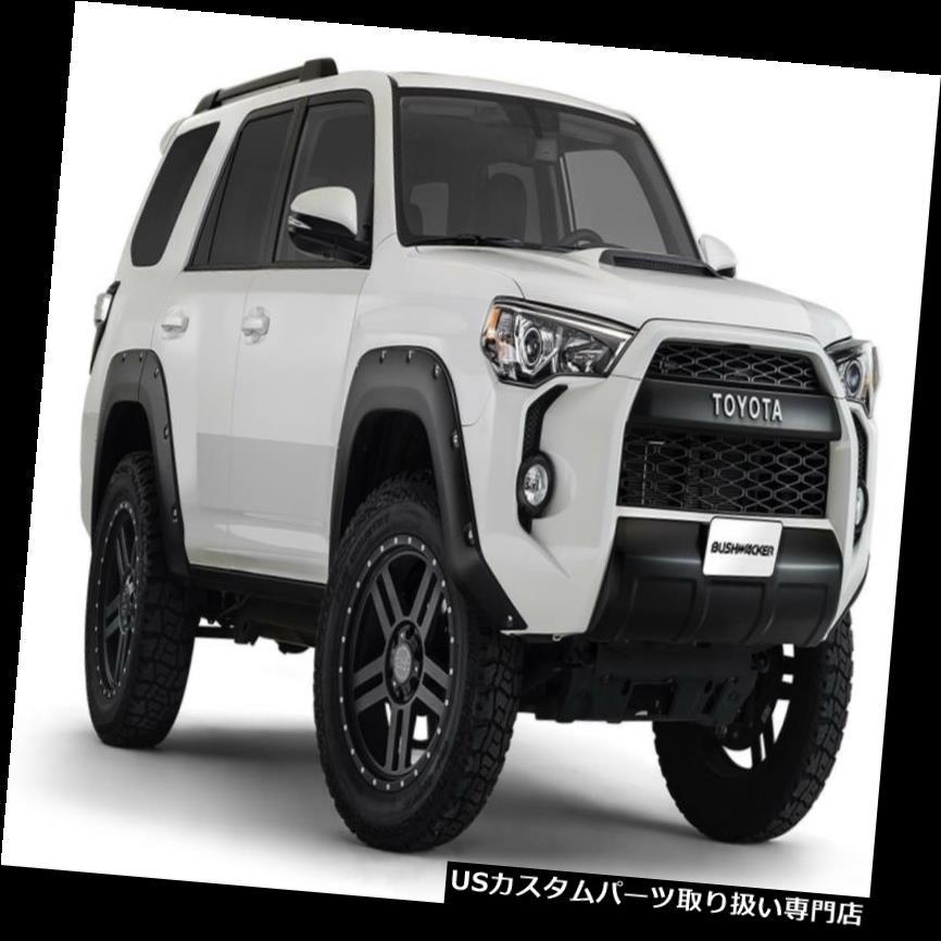オーバーフェンダー ブッシュワッカーポケットデュラフレックスフェンダーフレア2014-2018トヨタ4ランナー Bushwacker Pocket Dura-Flex Fender Flares 2014-2018 Toyota 4Runner