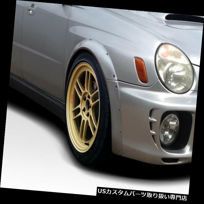 オーバーフェンダー 02-03スバルWRXレースデュラフレックスフロントフェンダーフレア! 112783 02-03 Subaru WRX Race Duraflex Front Fender Flares!!! 112783