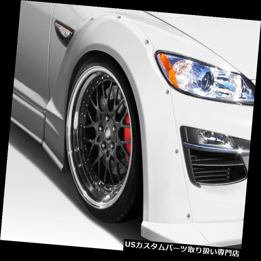 オーバーフェンダー 09-11マツダRX8オリオンデュラフレックスフロントフェンダーフレア! 109467 09-11 Mazda RX8 Orion Duraflex Front Fender Flares!!! 109467