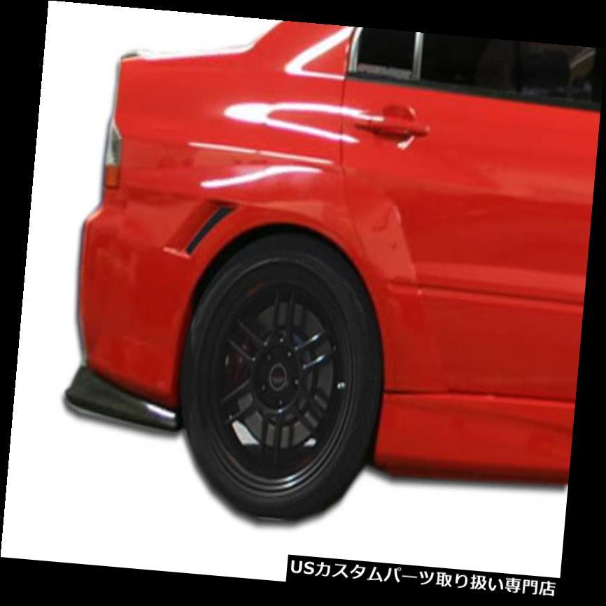 107216 03-06 Mitsubishi Evolution VT-X Duraflex Widebody Rear Fender Flares!!