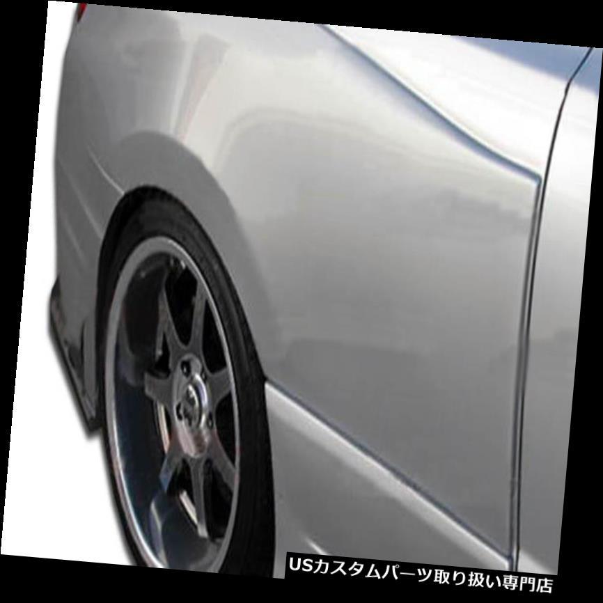 オーバーフェンダー 06-11ホンダシビック2DR GT500デュラフレックスワイドボディリアフェンダーフレア! 105249 06-11 Honda Civic 2DR GT500 Duraflex Widebody Rear Fender Flares!!! 105249