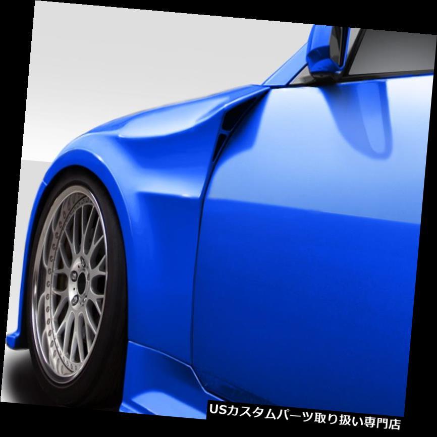 オーバーフェンダー 03-08フィット日産350Z悪魔Duraflexフロントフェンダーフレア!!! 113548 03-08 Fits Nissan 350Z Demon Duraflex Front Fender Flares!!! 113548