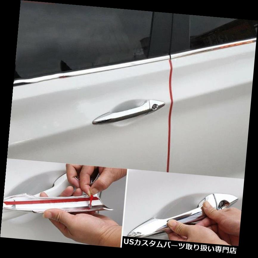 Chrome Door Handle Catch Cover Trim Overlays Kit Fit For TOYOTA RAV4 2013-2016