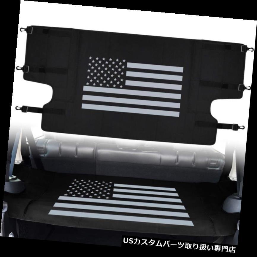 リアーカーゴカバー ジープラングラー2007-2018 JKのリアカーゴカバートランクオーガナイザータイダウンDリング Rear Cargo Cover Trunk Organizer Tie-Down D-Rings For Jeep Wrangler 2007-2018 JK