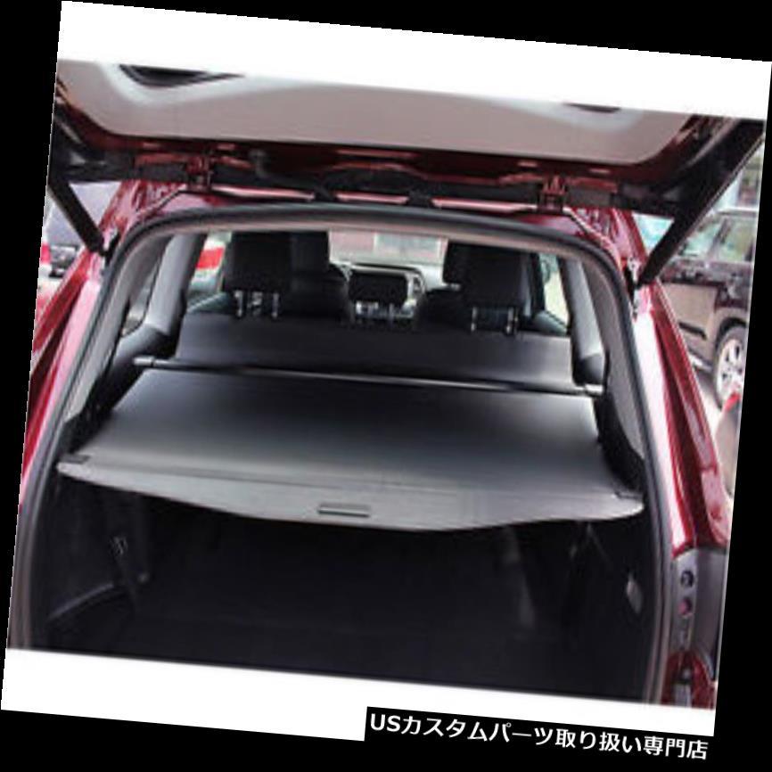 リアーカーゴカバー トヨタハイランダー7席2014-2016年のための黒い引き込み式の後部貨物トランクカバー Black Retractable Rear Cargo Trunk Cover For Toyota Highlander 7 Seats 2014-2016