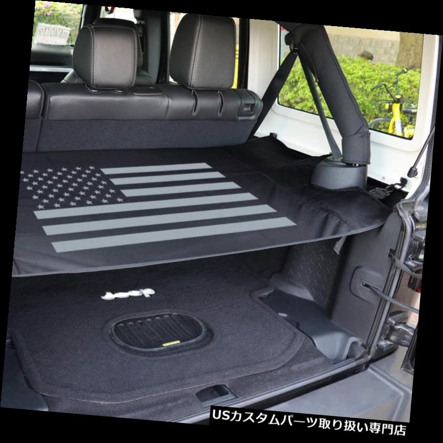 リアーカーゴカバー 4ドア用後部トランクシェード貨物カバーシールドJeep Wrangler JK JKU 2007-2017 Rear Trunk Shade Cargo Cover Shield for 4 Doors Jeep Wrangler JK JKU 2007-2017