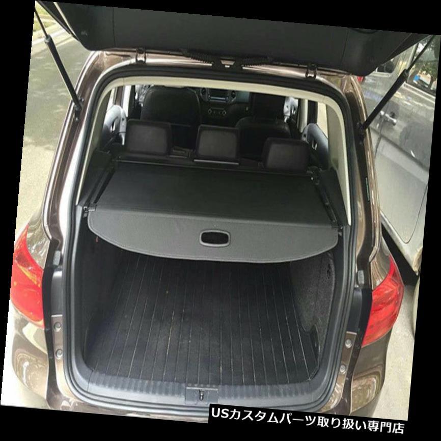 リアーカーゴカバー 2010-2015 VWフォルクスワーゲンティグアン新しい黒のための後部トランクシェード貨物カバー Rear Trunk Shade Cargo Cover for 2010-2015 VW Volkswagen Tiguan new Black