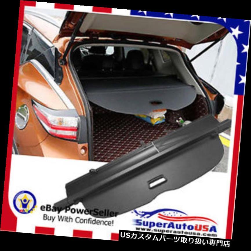 リアーカーゴカバー フィット1516 2017日産ムラーノトランクブラックoeスタイルリトラクタブルカーゴカバーシールド Fit 1516 2017 Nissan Murano TRUNK BLACK OE STYLE RETRACTABLE CARGO COVER Shield