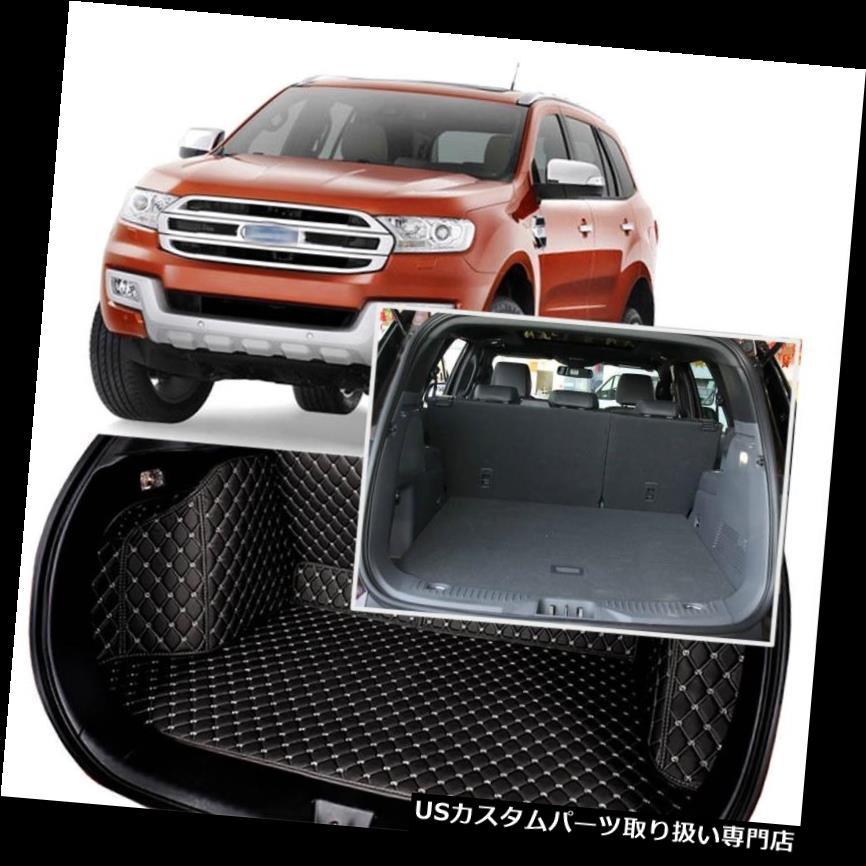 リアーカーゴカバー 黒い後部トランクカバーの貨物マットの座席及びフォードエベレスト5席のための床の保護装置 Black Rear Trunk Cover Cargo Mats Seat&Floor Protector For Ford Everest 5 Seats