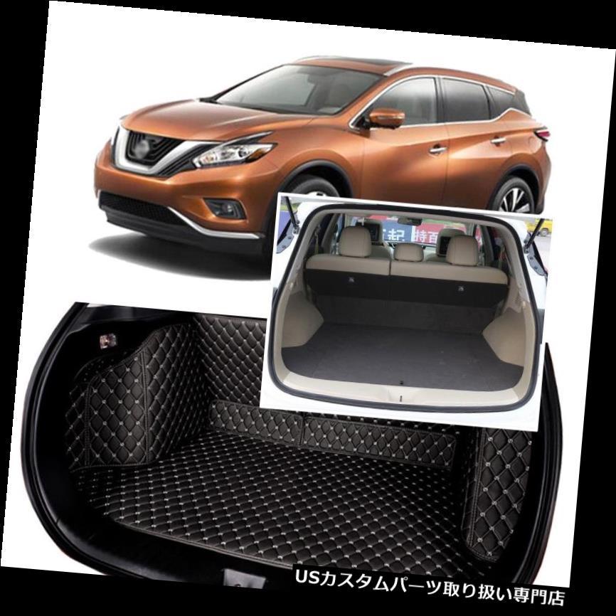 リアーカーゴカバー 日産ムラーノ2015-16用ブラックリアトランクカバーカーゴマットシート&フロアプロテクター Black Rear Trunk Cover Cargo Mats Seat&Floor Protector For Nissan Murano 2015-16
