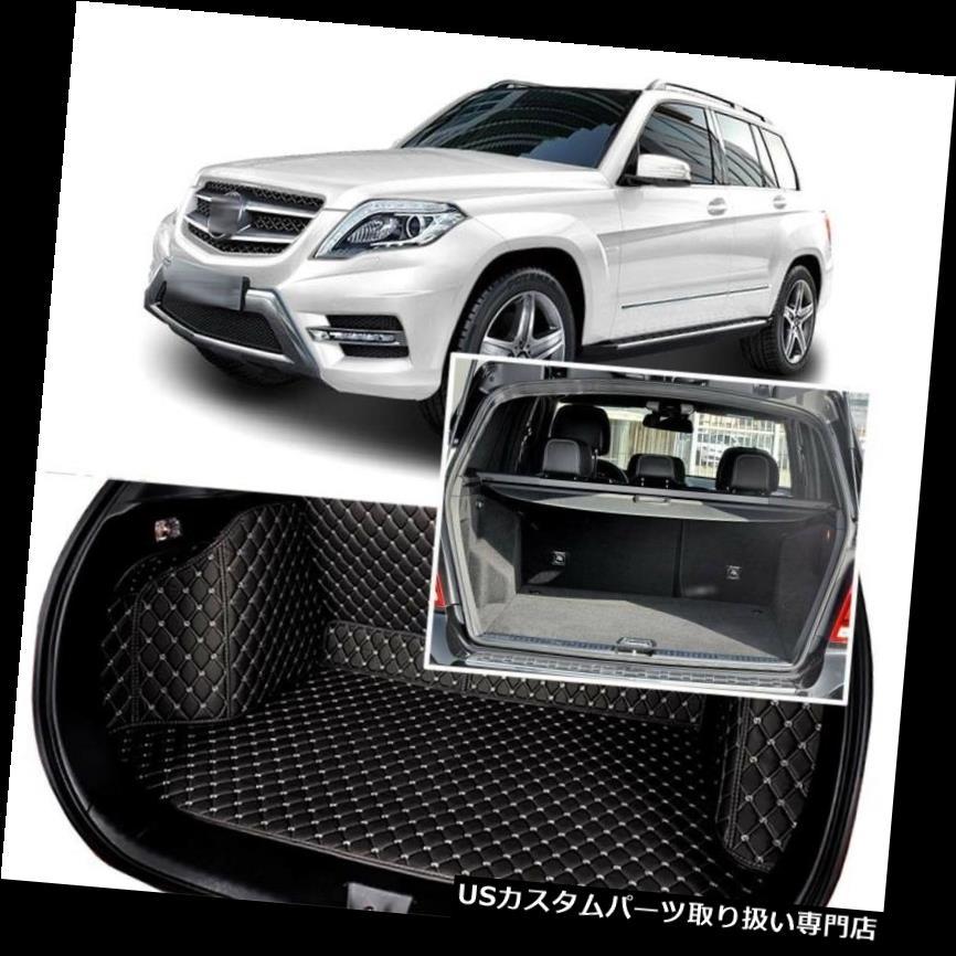 リアーカーゴカバー 1セットブラックリアトランクカバーカーゴマットシート&フロアプロテクターベンツGLK 2009-15 1Set Black Rear Trunk Cover Cargo Mats Seat&Floor Protector For Benz GLK 2009-15