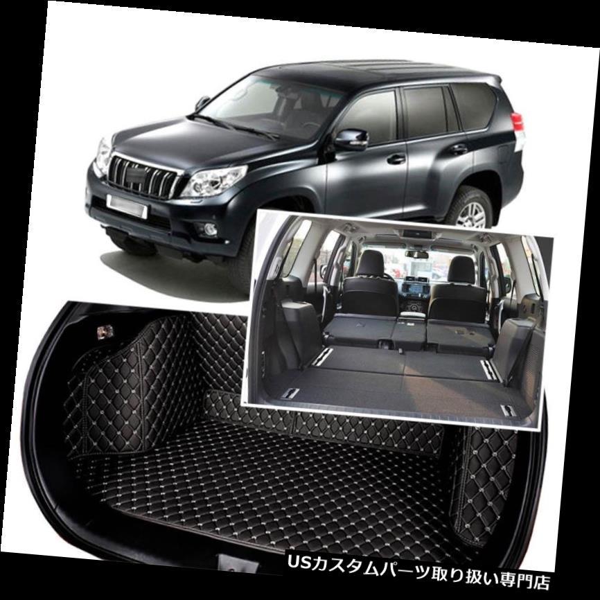 リアーカーゴカバー 1セットブラックリアトランクカバーカーゴマットシート&トヨタプラド用フロアプロテクター 1Set Black Rear Trunk Cover Cargo Mats Seat&Floor Protector For Toyota PRADO