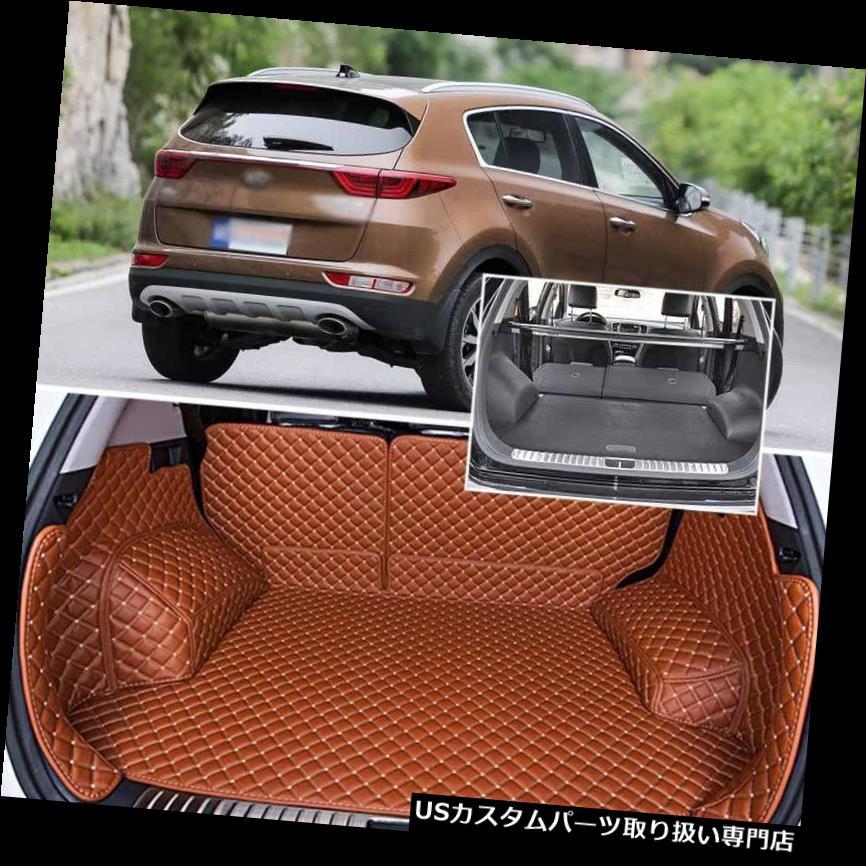 リアーカーゴカバー Kia KX5のPUレザーリアトランクカバーカーゴマットシートバックプロテクターカーペット PU Leather Rear Trunk Cover Cargo Mats Seat Back Protector Carpets For Kia KX5