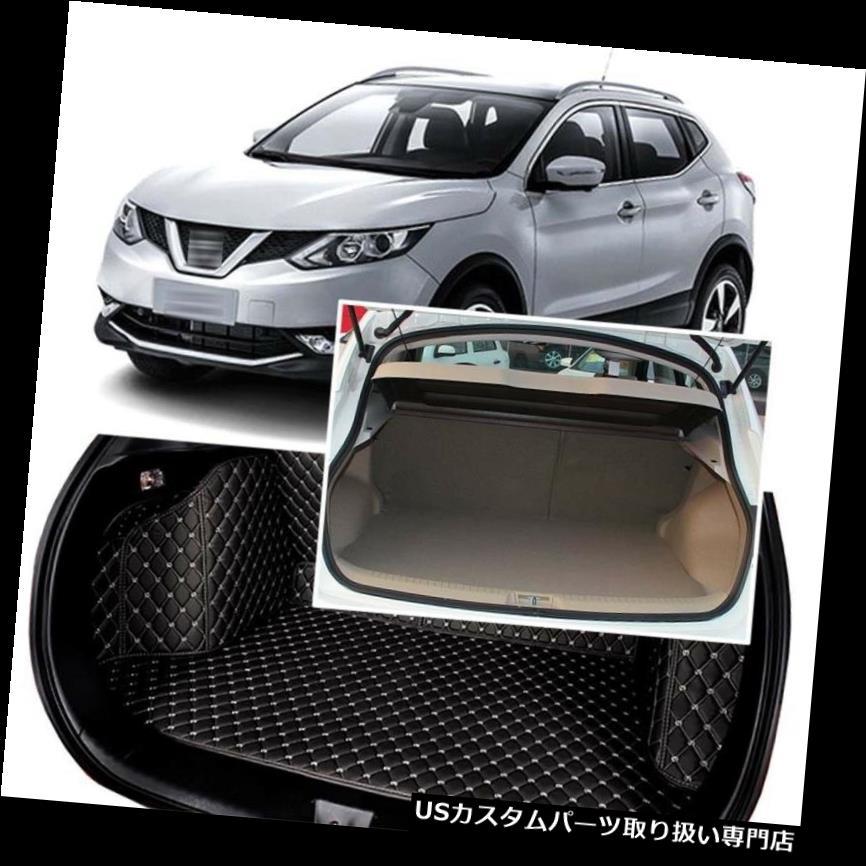 Protector Trunk Cargo Seat&Floor Rear For Cover Qashqai 黒後部トランクカバーカーゴマットシート&日産キャシュカイ2016用フロアプロテクター 2016 Nissan Black Mats リアーカーゴカバー